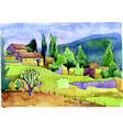 the landscape of country life vector image