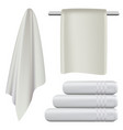 towel hanging spa bath mockup set realistic style vector image