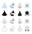 transportation trip accessories and other web vector image vector image