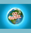 travel destination concept with logo go travel vector image vector image