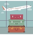 Travel Luggage in the Airport vector image vector image