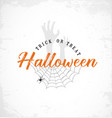 typographic halloween design element vector image vector image