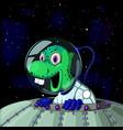 ufo cute cartoon alien with smile vector image vector image