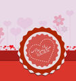 Valentine card flower vector image vector image