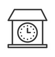 vintage house wall clock icon outline design vector image vector image