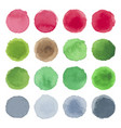 watercolor circle texture multicolored blots vector image vector image