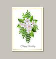 wedding congratulation card vector image vector image
