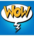 wow factor the inscription comic style vector image vector image