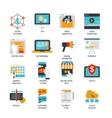 Digital Marketing Flat Icons Set vector image