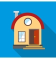 House with chimney icon flat style vector image