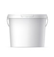 Cool Realistic White plastic bucket vector image