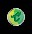 3d letter c symbol vector image
