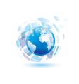 globe digital vector image