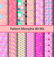 12 set pattern 80s background vector image vector image