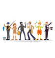a group of people of different career on a white vector image vector image