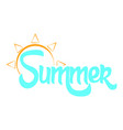 abstract summer label vector image vector image