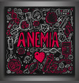 anemia doodles background vector image vector image