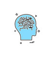 artificial brain intelligence robot icon design vector image