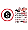 Bank Seal Flat Icon with Bonus vector image vector image
