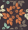 beautiful endless pattern with colorful floral vector image