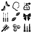 Beauty and makeup icons set vector image vector image