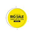 big sale banner geometric discount tag vector image vector image
