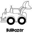 Bulldozer with hand draw vector image vector image
