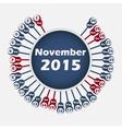 calendar 2015 November template vector image vector image