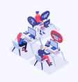 call center isometric vector image vector image