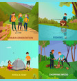 camping people design concept vector image
