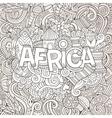 Cartoon cute doodles hand drawn african vector image vector image