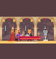 castle people composition vector image