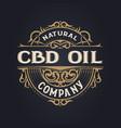cbd oil logo vintage style layered vector image