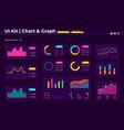 chart ui elements kit vector image vector image