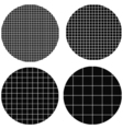 circle is made up of squares vector image