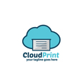 Cloud Print Logo vector image