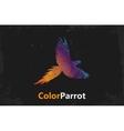 Color parrot Parrot logo design grunge poster vector image vector image