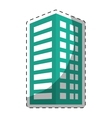 colorful building line sticker image vector image vector image