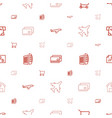 commercial icons pattern seamless white background vector image vector image