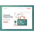 computer programming concept modern design vector image vector image