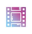 contour reel strip to retro short film vector image vector image