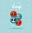 cute emojis cartoons vector image