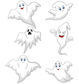 Cute ghost cartoon collection set vector image vector image