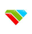 diamond shape file and folder stack symbol design vector image
