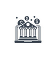 e-banking related glyph icon vector image vector image