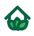 eco house logo vector image vector image