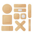 elastic medical plasters protection set on white vector image vector image