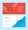 eye setting abstract corporate business banner vector image