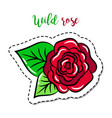 fashion patch element rose vector image vector image