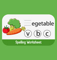 find missing letter with vegetable vector image vector image
